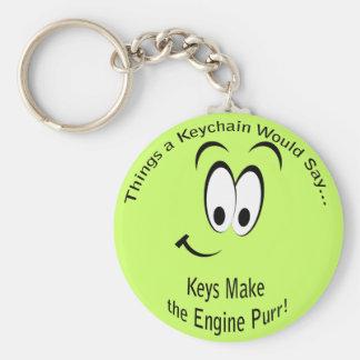 Keys Make the Engine Purr Lt Keychain