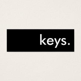 keys. mini business card
