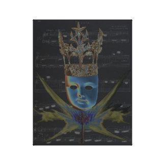 Keys of Life Blue Digital Art by Violet Tantrum Canvas Print