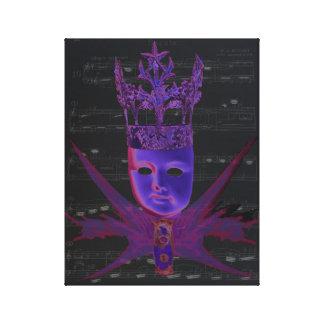 Keys of Life Fuchsia Digital Art by Violet Tantrum Canvas Print