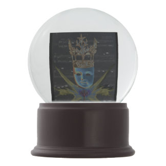 Keys of Life Snowglobe with SilverDiamond Confetti