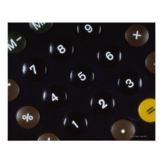 Keys on a calculator posters