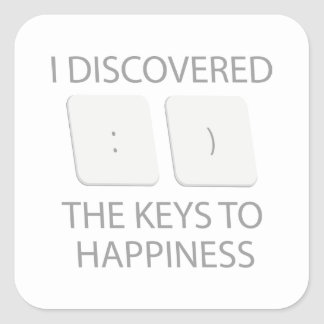 Keys To Happiness Square Sticker