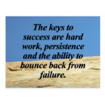 Keys to Success Postcard