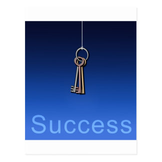 Keys to Success Postcard