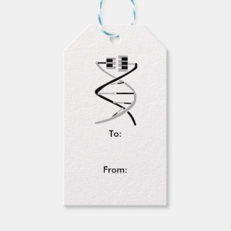 Keys to the Music Gene Pack Of Gift Tags