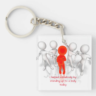 Keys with a conscience Single-Sided square acrylic keychain
