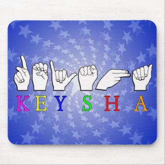 KEYSHA FINGERSPELLED ASL NAME SIGN MOUSE PAD