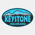 Keystone Colorado blue oval stickers