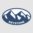 Keystone Colorado Oval Oval Sticker