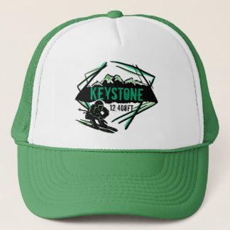 Keystone Colorado ski elevation green hat