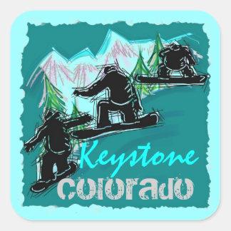 Keystone Colorado snowboard sticker