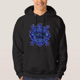 Keystone Colorado snowflake dark hoodie