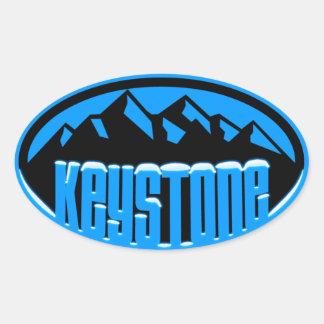 Keystone Snowcapped Oval Sticker