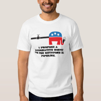 keystone xl pipeline alternative. t-shirt