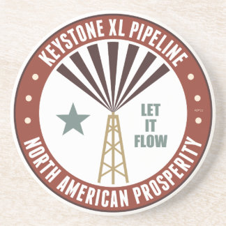 Keystone XL Pipeline Drink Coaster