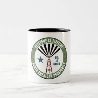 Keystone XL Pipeline Two-Tone Mug