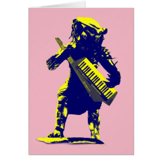 Keytar Predator Greeting Card