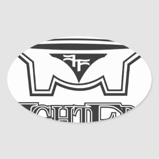 kff1 oval sticker