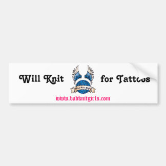 KG Logo Knit for Tattoos Bumper Sticker