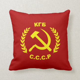 KGB CCCP Hammer and Sickle Throw Pillow