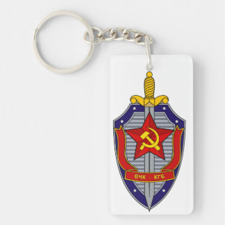 KGB Double-Sided RECTANGULAR ACRYLIC KEYCHAIN