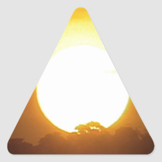kground  add NAME  QUOTE PHOTO  sunset,background, Triangle Sticker