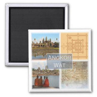 KH * Cambodia - Angkor Wat Square Magnet