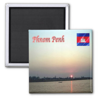KH - Cambodia - Sunrise in Phnom Penh Magnet