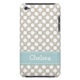 Khaki and Blue Polka Dot iPod Touch 4g Case Cover