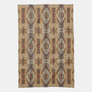 Khaki Beige Taupe Brown Eclectic Ethnic Look Kitchen Towel