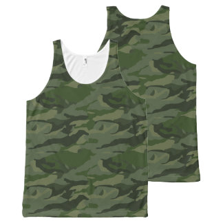 Khaki camouflage All-Over-Print tank top