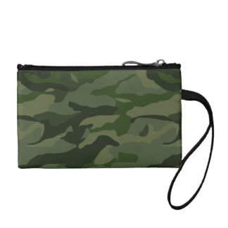 Khaki camouflage coin purse