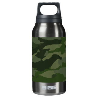 Khaki camouflage insulated water bottle
