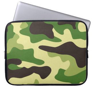 Khaki camouflage pattern computer sleeves
