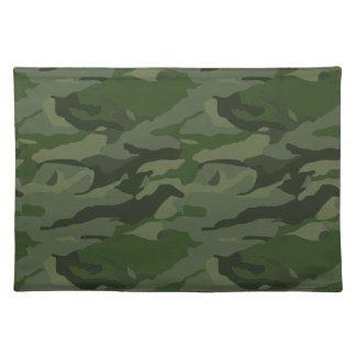 Khaki camouflage placemat