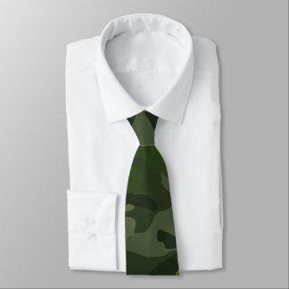 Khaki camouflage tie