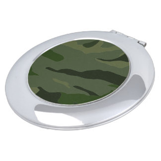 Khaki camouflage travel mirror