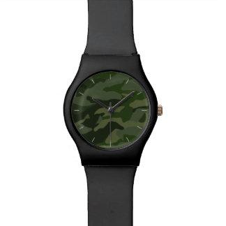 Khaki camouflage watch