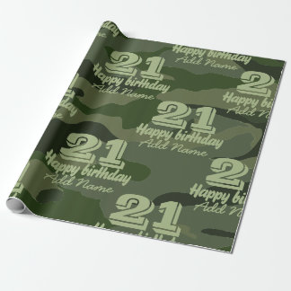 Khaki camouflage wrapping paper