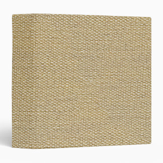 Khaki Coffee Brown Faux Burlap Texture Pattern Binders