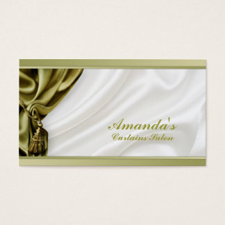 Khaki Curtains Treatment - Shop Business Card