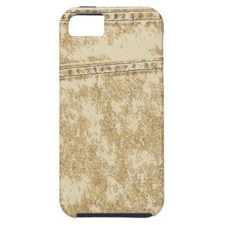 Khaki Denim Pocket Case For The iPhone 5