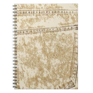 Khaki Denim Pocket Note Books