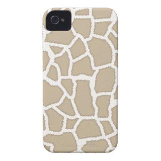 Khaki Giraffe Animal Print iPhone 4 Covers