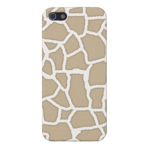 Khaki Giraffe Animal Print Case For iPhone 5
