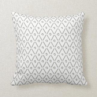 Khaki Green and White Diamond Pattern Throw Pillow