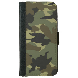 Khaki Green Camo Camouflage iPhone 6 6S Wallet iPhone 6 Wallet Case