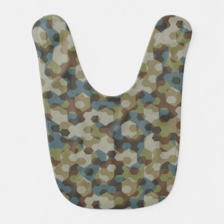 Khaki hexagon camouflage bib