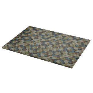 Khaki hexagon camouflage boards